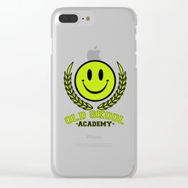 Old Skool Academy Rave Quote Clear iPhone Case