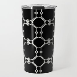 INSOMNIA black and white minimalist abstract pattern Travel Mug