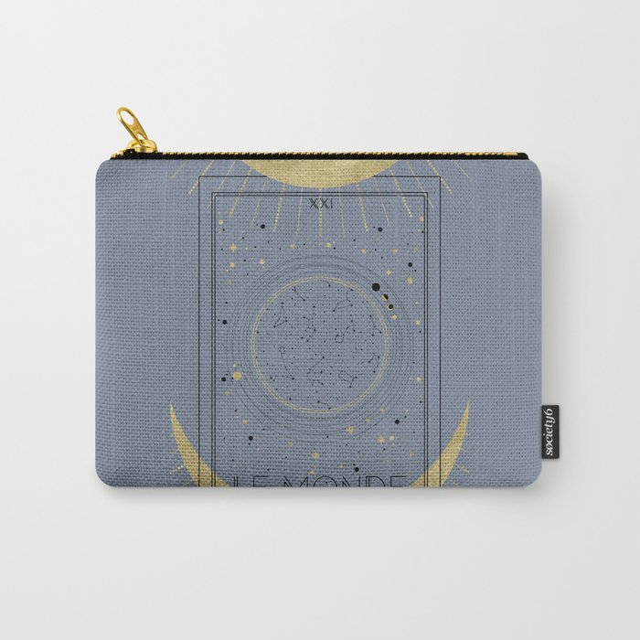The World or Le Monde Tarot Carry-All Pouch
