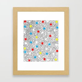 Puzzle with Spraypaint - Primary Colors Framed Art Print