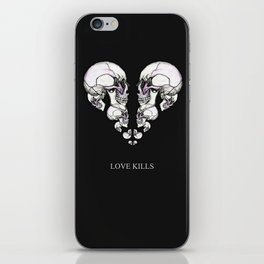 Skullheart - love kills s/w iPhone Skin
