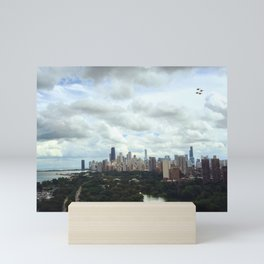 A Flock of Fighter Jets at the Chicago Air Show Mini Art Print