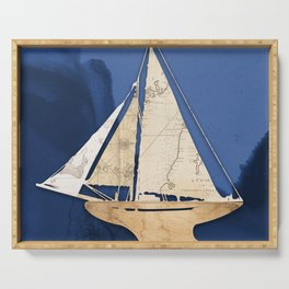 Cutter Sailboat  Serving Tray