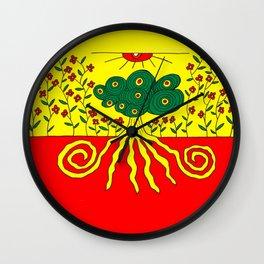 Tentacled tree Wall Clock
