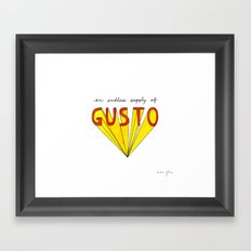 an endless supply of gusto Framed Art Print