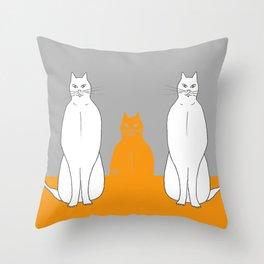 Cat sarcophagus Throw Pillow