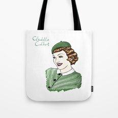 Claudette Colbert Portrait Tote Bag
