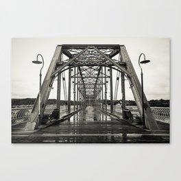 Walnut Street Bridge in Platinum Canvas Print
