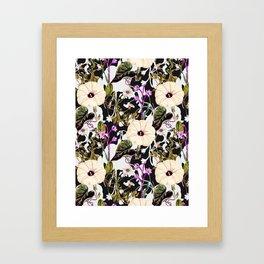 Flowery abstract garden Framed Art Print