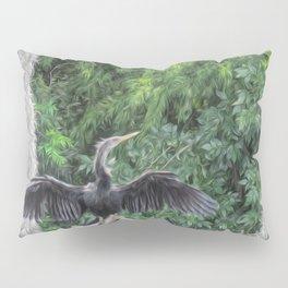 A Sunning Anhinga Pillow Sham