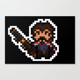 Graves, The Pixel Gunslinger - black version Canvas Print