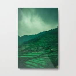 Terraced Rice Fields in the North of Vietnam. Nature Landscape Photography. Metal Print