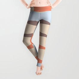 Zaha Blue Retro Leggings