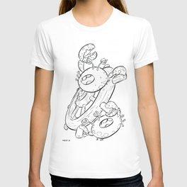 Pirate Ship Wheel - ink T-shirt