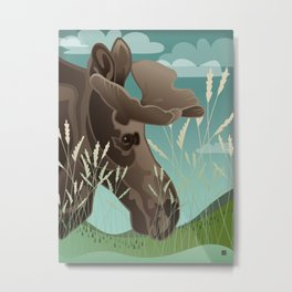 Shiras Moose Metal Print