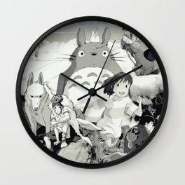 ghibli family Wall Clock