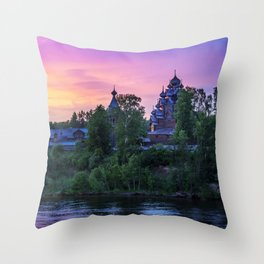 Delightful Russian evening Throw Pillow