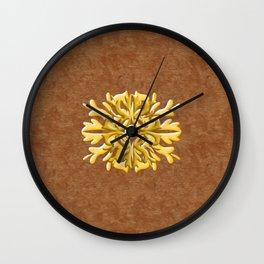 """""""Marron Doré"""" Wall Clock"""