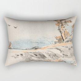 Autumn Birds Traditional Japanese Landscape Rectangular Pillow