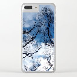 Dramatic stormy sky Clear iPhone Case