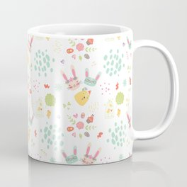Easter Bunny Scandinavian Pattern Coffee Mug