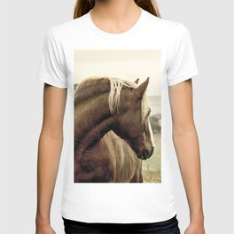 brown horse on the hill T-shirt