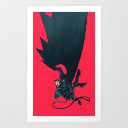 Bat and the Cat Art Print