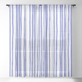 Ink Rain 02 Sheer Curtain