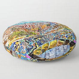 Barcelona, Parc Guell Floor Pillow