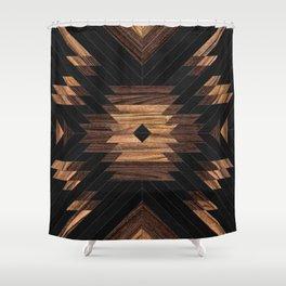 Urban Tribal Pattern No.7 - Aztec - Wood Shower Curtain