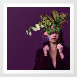 Lady Flowers lllll - Clara. Art Print