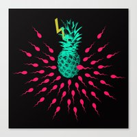 pineapple Canvas Prints featuring Pineapple by mark ashkenazi