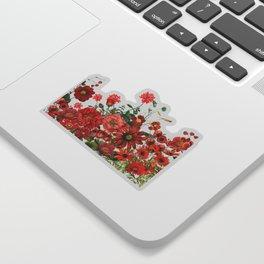 Vintage & Shabby Chic - Red Summer Flower Garden Sticker