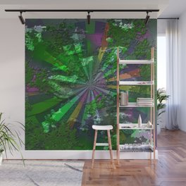 Radial green Wall Mural