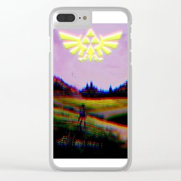 Psychedelic Tri Force v2 Clear iPhone Case