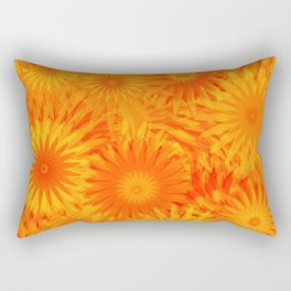 Dandelion Yellow Orange Flower Pattern  Rectangular Pillow