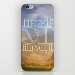 Break On Through iPhone Skin