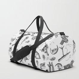 The Great Exploration B/W Duffle Bag