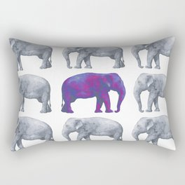 Elephants II Rectangular Pillow