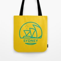 sydney Tote Bags featuring Sydney by BMaw