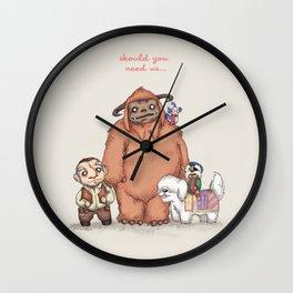 Should You Need Us... Wall Clock