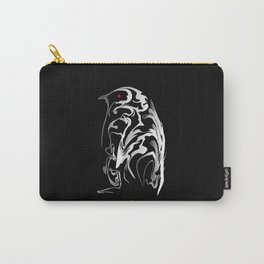 Penguin pigeon 1. White on black backgroun - (Red eyes series) Carry-All Pouch