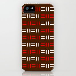 Pattern simple mazes iPhone Case