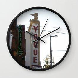 Vogue Sign Granville Street Wall Clock