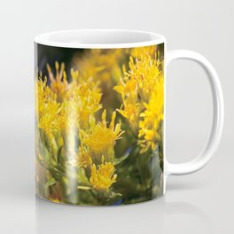 Macro photo golden flowers Coffee Mug