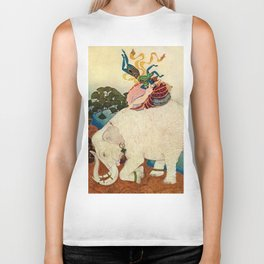 """The Elephant Pearl"" Fairy Tale Art by Edmund Dulac Biker Tank"