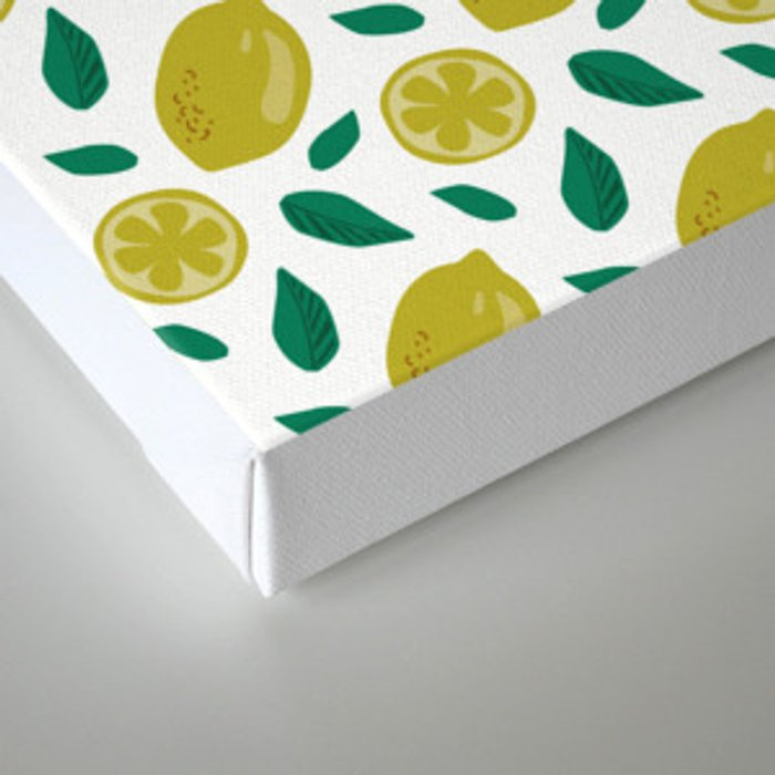 lemons digital pattern Canvas Print