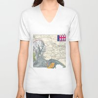fig V-neck T-shirts featuring Fig. 407 by judy lee