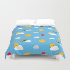 Kawaii Skies Duvet Cover