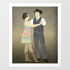 Country Two Step Art Print
